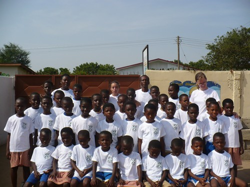Group photo of classes 1-6 in their