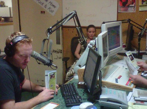 Jaymie on the I-95's Ethan and Lou Morning Show.