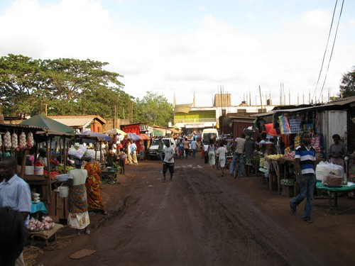 A section of the market in Madina