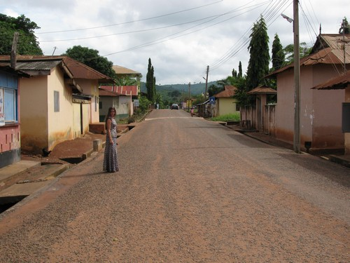 This is the main road that runs through the village of Abokobi.