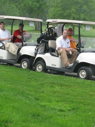 Golfers on their way to the next hole!