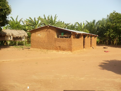 The house of one of Jaymie's students in Abokobi.