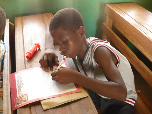 Richmond (class 6) writing to his new American friend.