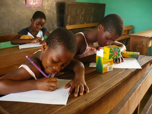Sisters, Confidence (class 2) & Felicity (class 6) diligently working!