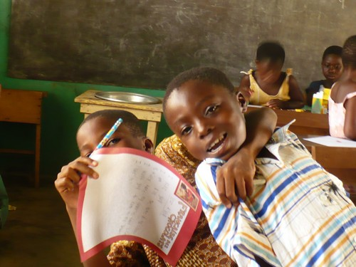 Quist & Francis (class 2) excited about their pen pals.