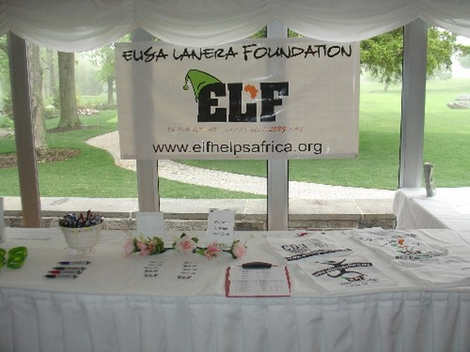 ELF merchandise table